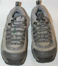 Work Pro Gray Safety Shoes Women Unisex Leather Upper Green Seal Sz 8