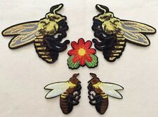 Bee patch / Flower Patch/ Embroidered patch/Sew on patch /fashion/applique