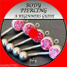 LEARN THE SKILLS OF BODY PIERCING A SIMPLE BEGINNERS INSTRUCTION GUIDE DVD NEW