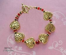 Scarlet Heart ~ Valentine's Bracelet Jewelry Making Bead Kit with Instructions
