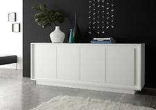 Madia - Credenza a 4 ante bianco opaco