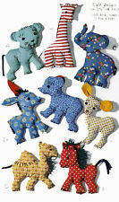 Vintage Stuffed Toy PATTERN 1078 Easy to Sew Animals Giraffe Horse Elephant Bear