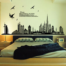 City Buildings DIY Removable Wall Sticker Art Decals Home Decoration Stickers