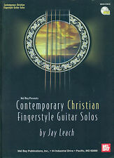"""CONTEMPORARY CHRISTIAN FINGERSTYLE GUITAR SOLOS"" MUSIC BOOK/CD BY JAY LEACH NEW"