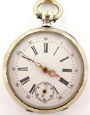 LATE 1800s TWIN KEY WIND P/WATCH, EAGLE MAKERS MARK ON MOVEMENT. NEEDS SERVICE.