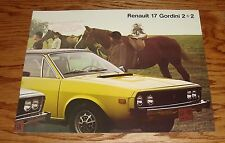 Original 1976 Renault 15 and 17 Sales Brochure 76 15TL 17TL Gordini