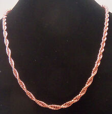 "NEW PURE Copper Triple cable Chain link 24"" Necklace Mod#cn004"