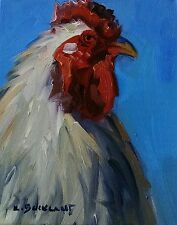 KYLE BUCKLAND ANIMAL ROOSTER FARM HEN CHICKEN PAINTING ART WHIMSICAL FUN BIRD