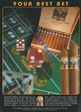 Fat Cat Don Rico Cigars Dominican Republic Best Bet Vintage MagazineAd 1999 Rare