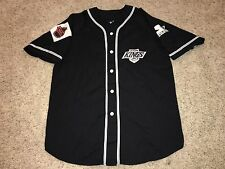VTG NHL Los Angeles Kings Starter Button Down Baseball Jersey Mens Medium SEWN