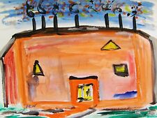 Steel Mill SELF TAUGHT Naive Folk OUTSIDER Mary Carol  art MCW Primitive
