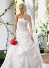 New davids bridal wedding dress With Tags Style # V9202 In Ivory Strapless Stn