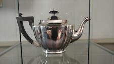 Fine William Suckling Art Deco Silver Plated Fluted Teapot with Domed Lid C1921+