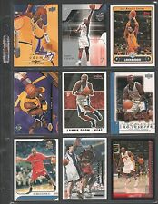 LAMAR ODOM ~ Lot of (9) Different Basketball Cards w/ Display Sheet ~ (L87)