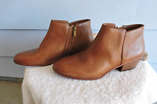 Women's Sam Edelman Petty Ankle Boots Brown Leather Size 10.5
