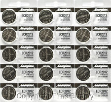 15 pcs 2012 Energizer Watch Batteries CR2012 CR 2012 3V Lithium Battery 0%HG