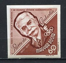 32107) HUNGARY 1963 MNH** Pierre de Coubertin, 1v. Imperf.