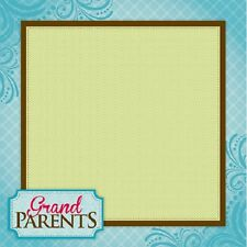 Scrapbook Paper 3D GRANDPARENTS 12 x 12 inches 2 Sheets   BBE