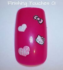 NAIL art adesivo 3D HELLO KITTY Decalcomania # 156 xf182 bambini trasferimento STOCKING Rosa