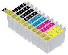 10PK Hi-Yield 2 Set + 2 Extra BK Ink For Epson 68 69 T0681 - T0684 T0691 - T0694
