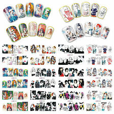 12 Sheets Nail Art Water Transfer Decal Sticker Fashion Girl BN253-264