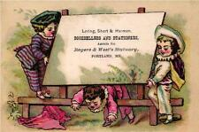 A Victorian Advertising Card - Loring, Short & Harmon Booksellers - Portland, ME