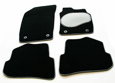 VW Touareg 4x4 2nd gen 10  Carpet Car Mats-Silver / Black Trim & Grey Heel Pad