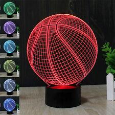3D LED Nachtlicht Berührung Schalter Tisch Tischlampe Basketball Form Decor USB