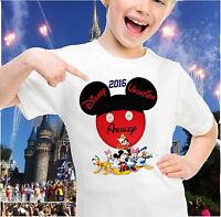 Personalized Disney Mickey Head with Mickey and Pals  Family Vacation T-shirt