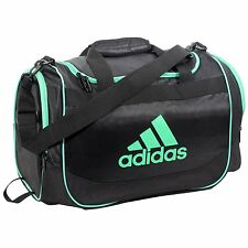 "Adidas Defender II Duffel Bag Black lime green Medium New 22"" gym shoulder"