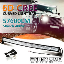 6D+ 52inch 700W CREE Curved LED Light Bar Flood Spot Combo Work Driving Offroad