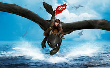 "How to Train Your Dragon 1 2 Wall Movie 21""x13"" Poster H22"