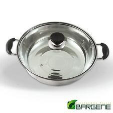 32CM Stainless Steel Pot With Lid - For Induction/Heater/Gas/Electrical Stove
