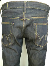 edwin unwashed raw Japanese denim slim fit jeans men SZ  34/34 tapered