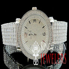 Joe Rodeo Jojo Jojino Mens 14K Gold Finish Lab Diamond 3 Row Bezel Custom Watch