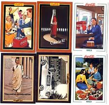 COCA COLA Lot de 6 Cartes NEUVES DIFFERENTES Lot N° COCA-K 010