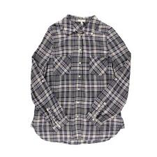 Joie 6156 Womens Purple Herringbone Plaid Button-Down Top Shirt L BHFO