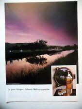 PUBLICITE-ADVERTISING :  JOHNNIE WALKER Jour s'éloigne 1990Whisky,Alcool,Péniche