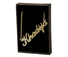 "Name Necklace ""KHADIJA"" - 18ct Gold Plated - Swarovski Elements - Fashion Gifts"