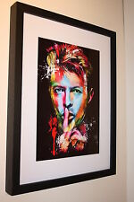 DAVID BOWIE RARE ART WORK QUALITY PHOTO A4 BOX FRAMED 16X12 GLAM ROCK