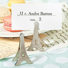 50 Paris Eiffel Tower Memo/Place Card Clip Favor Wedding Shower Gift Favors
