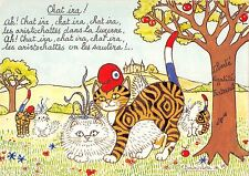 B98708 cat chat painting france postcard animaux animals