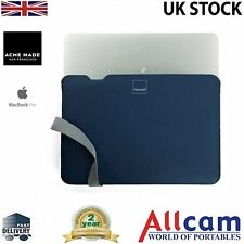 "ACME Made Skinny Manica Custodia Laptop da 13 ""MacBook Pro In Blu / Grigio, Nuovo"