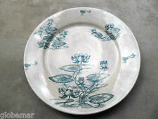 Assiette ancienne faience Sarreguemines U&C Digoin 1910's French antique dish