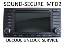 VW TOURAN  MFD2 NAVIGATION RADIO DECODE UNLOCK SERVICE