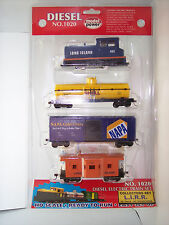 HO TRAIN  LONG ISLAND RR  DIESEL ELECTRIC MP TRAIN SET NO. 1020 COLLECTORS SET