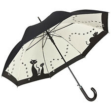 Von Lilienfeld Double Layer Walking Umbrella - Black Cats