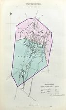 WINCHESTER - Original Antique Map + Boundary Commission Report, 1837.
