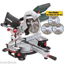 """Metabo KGS216M 216mm 8"""" Laser Slide Compound Mitre Saw 110V + 3 Extra Blades"""