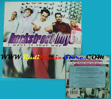 CD Singolo Backstreet Boys I Want It That Way 7243 8 95895 2 8 SIGILLATO(S22)
